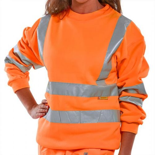 BSeen Hi Vis Orange Sweatshirt